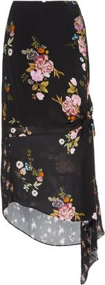 Preen Line Kalifa Floral-Print Crepe De Chine Midi Skirt