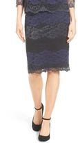 Halogen Lace Pencil Skirt (Regular & Petite)