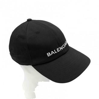 Balenciaga Black Cotton Hats & pull on hats