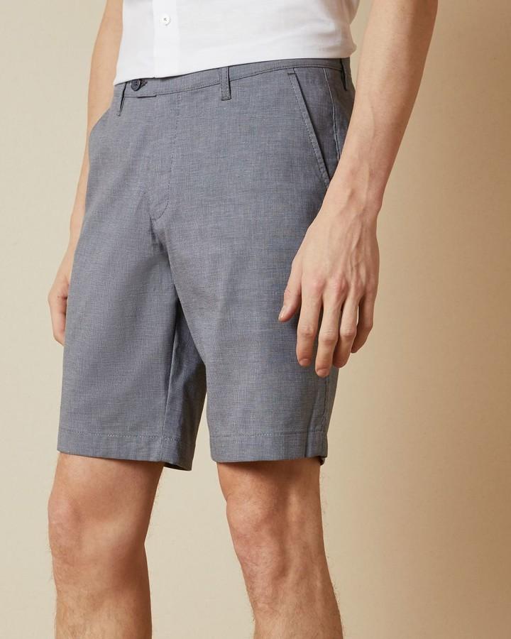 Ted Baker Semi Plain Cotton Shorts