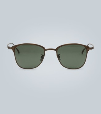 Bottega Veneta Titanium rectangular sunglasses