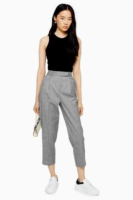 Topshop Womens Tapered Trousers - Grey