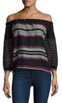 Lemlem Makari Stripe Off-The-Shoulder Top