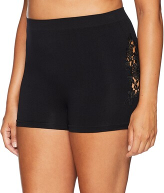 Ahh By Rhonda Shear Women's Seamless Boyshort with Corchet Detail