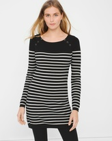 White House Black Market Striped Knit Tunic