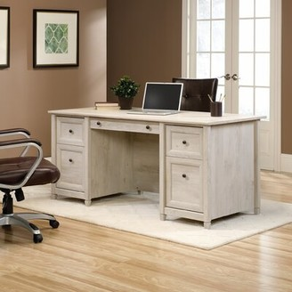 Three Posts Lamantia Executive Desk Finish: Chalked Chestnut