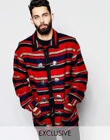 Reclaimed Vintage Blanket Duffle Coat
