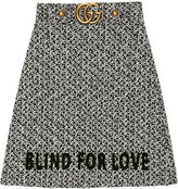 Gucci embroidered tweed skirt - women - Cotton/Nylon/Polyester - 40