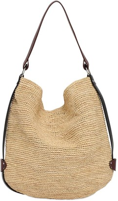Isabel Marant Baya Raffia & Leather Tote Bag