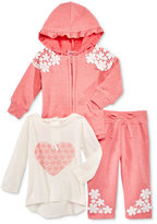 Nannette 3-Pc. Hoodie, Top & Pants Set, Baby Girls (0-24 months)