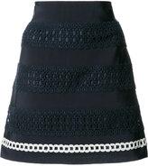 Alberta Ferretti crochet stripe skirt