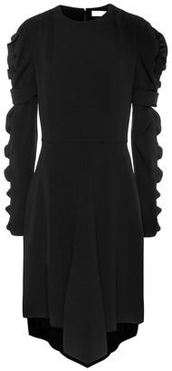 Chloé Ruffled crepe dress