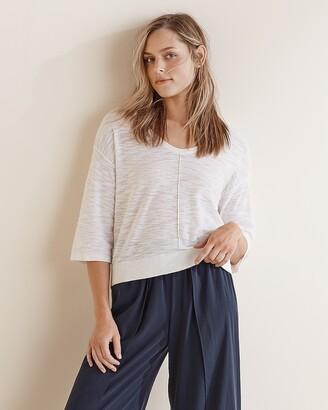 Express Upwest Textured V-Neck Sweater