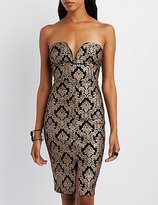 Charlotte Russe Printed Strapless Bodycon Dress