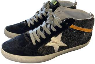 Golden Goose Mid Star Black Glitter Trainers