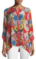 Johnny Was Mishka Printed Relaxed Tunic, Petite