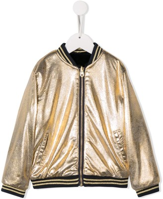 Little Marc Jacobs Metallic Bomber Jacket