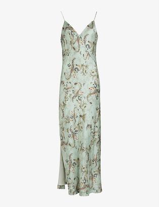AllSaints Andia Assam crepe midi dress