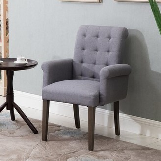 Wilda Tufted Upholstered Arm Chair Red Barrel Studio Upholstery Color: Grey