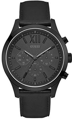 GUESS Smooth Genuine Leather Chronograph Watch with Date. Color: (Model: U0789G4)