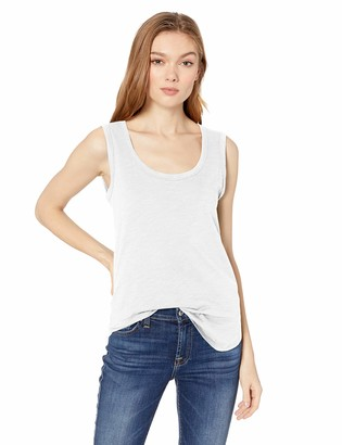 Daily Ritual Amazon Brand Women's Lightweight Lived-In Cotton Scoop Neck Muscle T-Shirt X-Large