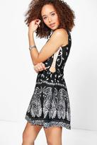 Boohoo Pari Monochrome Tie Side Dress