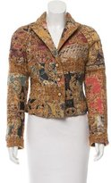 Roberto Cavalli Patterned Wool-Blend Blazer