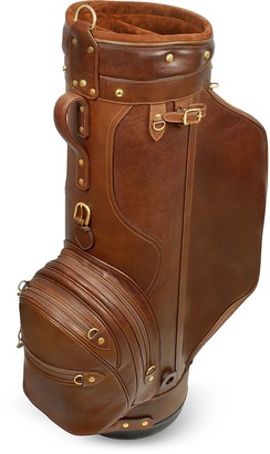 "Pellevera Pro Staff 9.5"" Genuine Italian Leather Golf Bag"