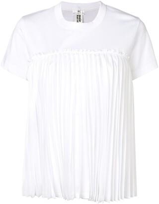 Comme des Garcons pleated detail T-shirt