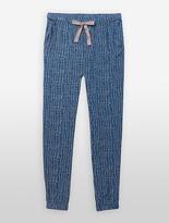 Calvin Klein Woven Viscose Abstract Pajama Pants