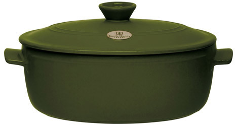 Emile Henry Flame Top Oval Dutch Oven/Stew Pot, 4.9 quart