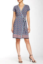 Max Studio Short Sleeve Wrap Dress
