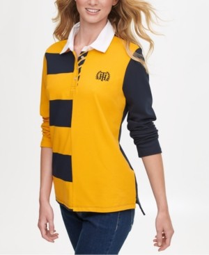 Tommy Hilfiger Rugby-Stripe Polo Shirt, Created for Macy's