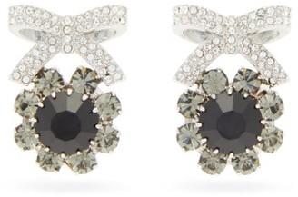 Erdem Crystal-embellished Bow Stud Earrings - Crystal