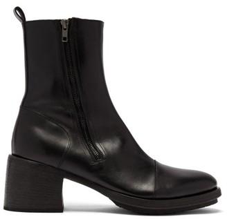 Ann Demeulemeester Block-heel Leather Boots - Mens - Black