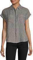Saks Fifth Avenue Women's Gingham Boxy Button-Down Tee
