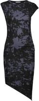 Kain Label Astley asymmetric ruched printed stretch-modal dress