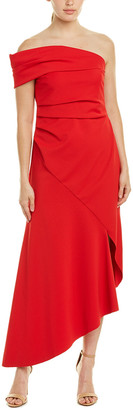 Oscar de la Renta Silk-Lined Midi Dress