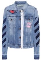 Off-White Diagonal Zip denim jacket