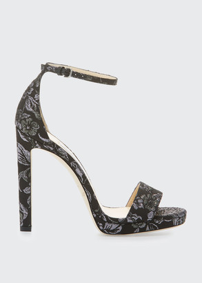 Jimmy Choo Misty Brocade Fabric Sandals
