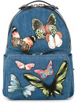 Valentino medium butterfly embroidered backpack