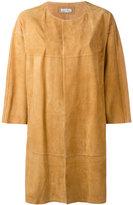 Desa Collection - oversized jacket - women - Cotton/Suede - 34