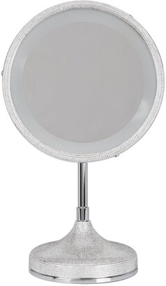 Zodiac Chrome-Plated Crystal Embellished Mirror
