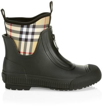 Burberry Vintage Check Rubber Rain Boots