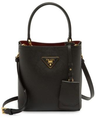 Prada Small Double Leather Bucket Bag