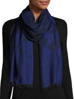 McQ by Alexander McQueen Swallow Degrade Scarf, Iris