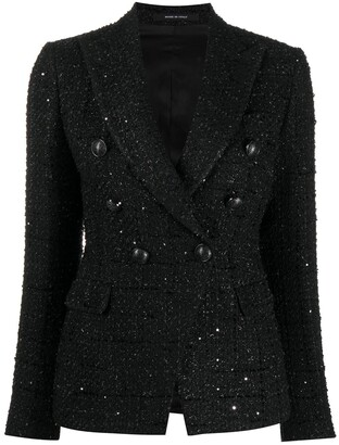 Tagliatore Double-Breasted Tweed Jacket