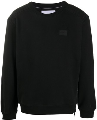 Calvin Klein Jeans Ribbed-Shoulder Sweatshirt