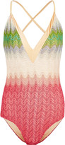 Missoni Crochet-knit swimsuit