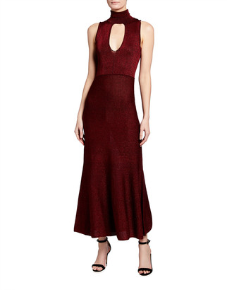 Pinko Horten Sleeveless Keyhole Maxi Dress